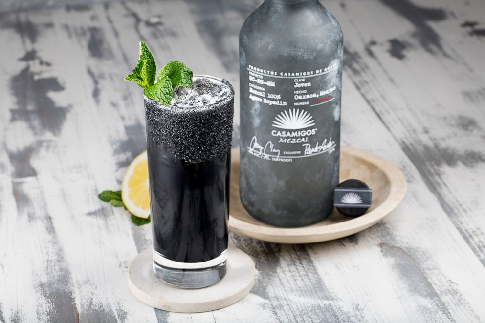 PHOTO: A Cinco de Mayo cocktail, the Casa Mexcal Lemonade with charcoal and black lava salt.