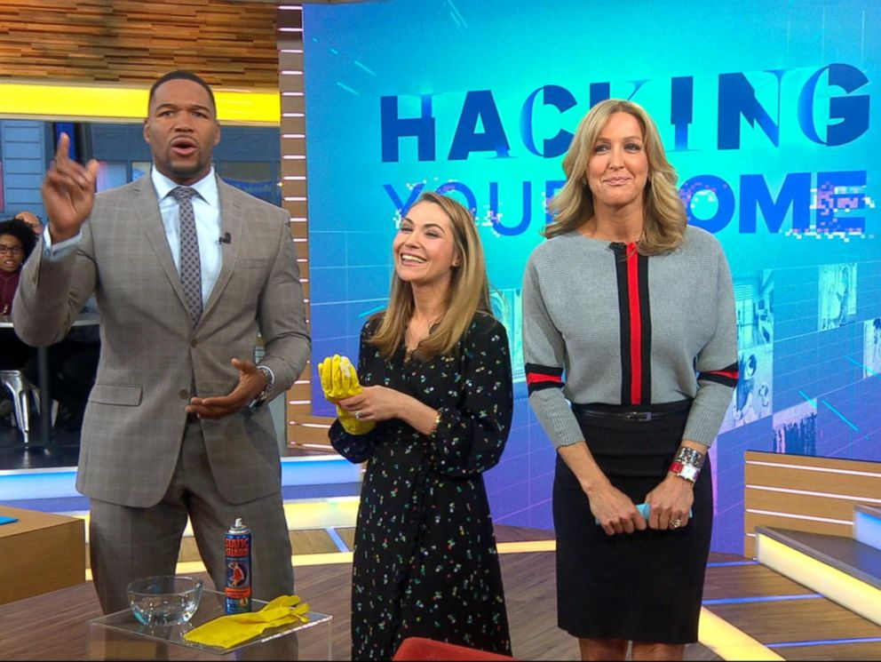 PHOTO: Good Housekeeping style director Lori Bergamotto demonstrates four cleaning hacks with everyday items already in your home.