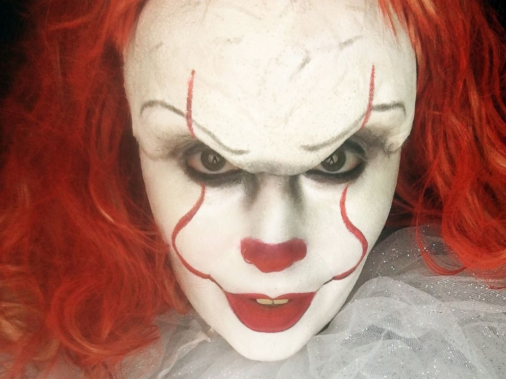 PHOTO: Makeup artist Sabrina Ozuna of California shares her Halloween makeup design on Instagram for Pennywise the clown from the 2017 horror film, It.