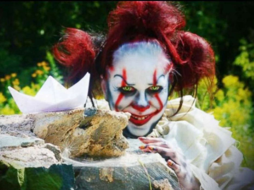PHOTO: Makeup artist Jacquie Lantern of Minnesota shares her Halloween makeup design on Instagram for Pennywise the clown from the 2017 horror film, It.