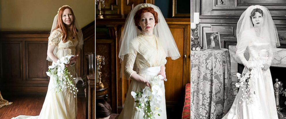 Bride Wears Great Grandmothers 1910 Wedding Dress In Special Photo