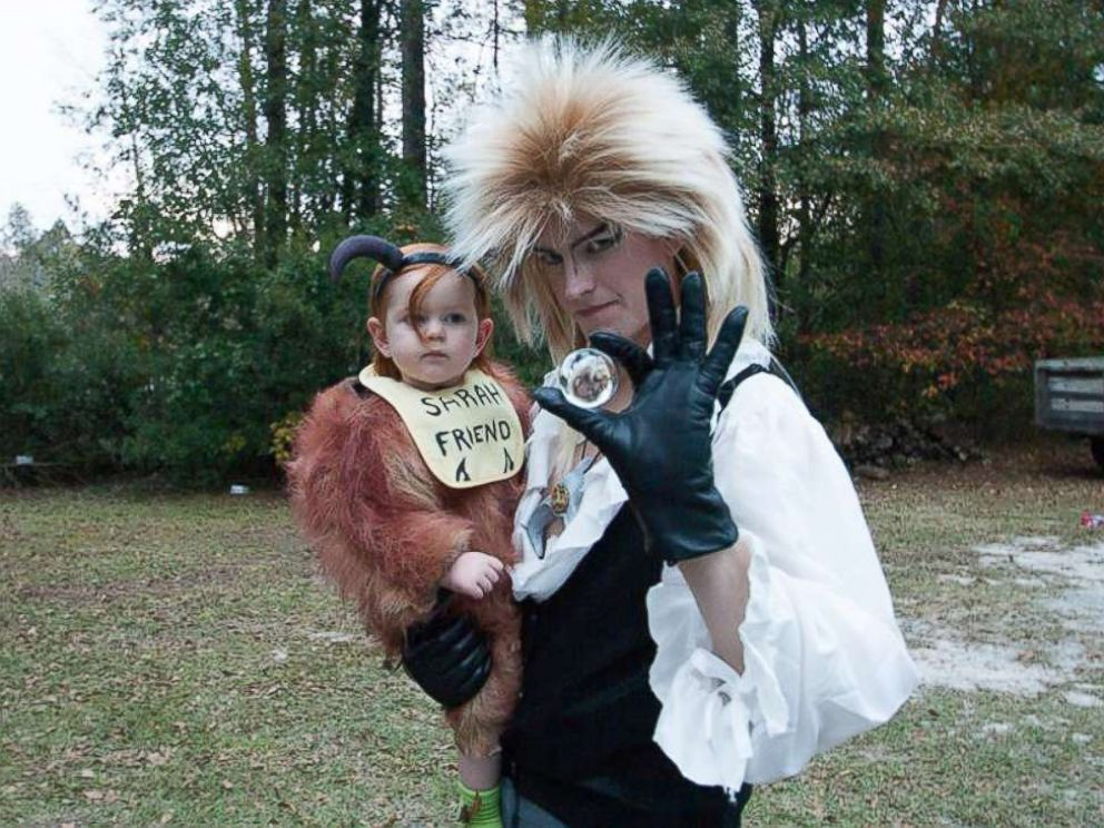 PHOTO: Tim Burket and his daughter, Amelia Grace, dressed as Labyrinth characters.