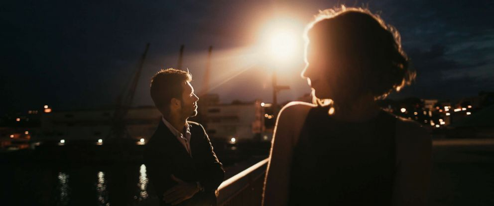 PHOTO: Stock photo of couple out at night.