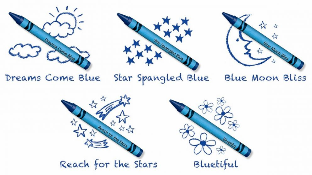 Crayola announced the name of its newest blue crayon selected by Crayola fans.