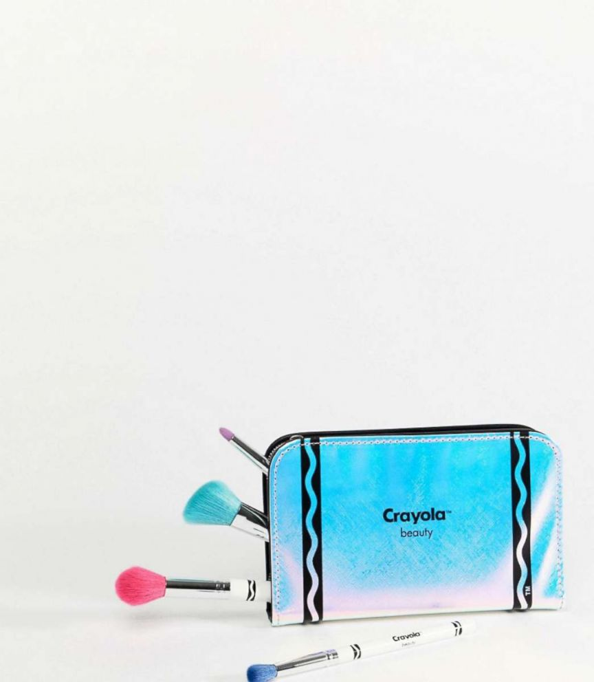 PHOTO: This Crayola Makeup Brush and Pencil Case Set retails for $40,00 at ASOS.