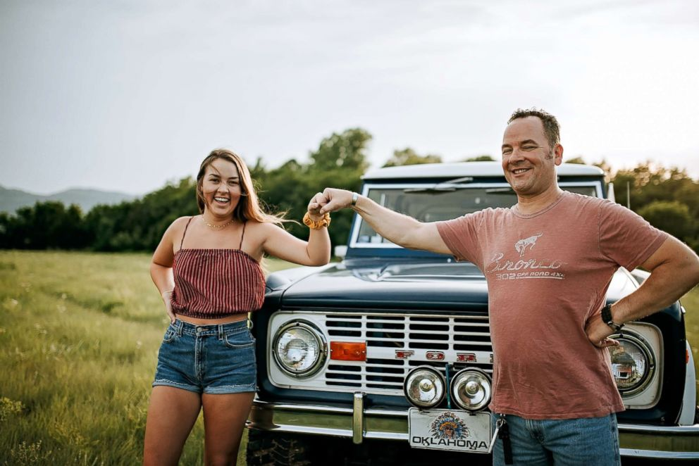 PHOTO: Shelby Rademacher, 16, and her dad, William Rademacher, partook in the shoot on June 1, 2018, featuring dads beloved Bronco.