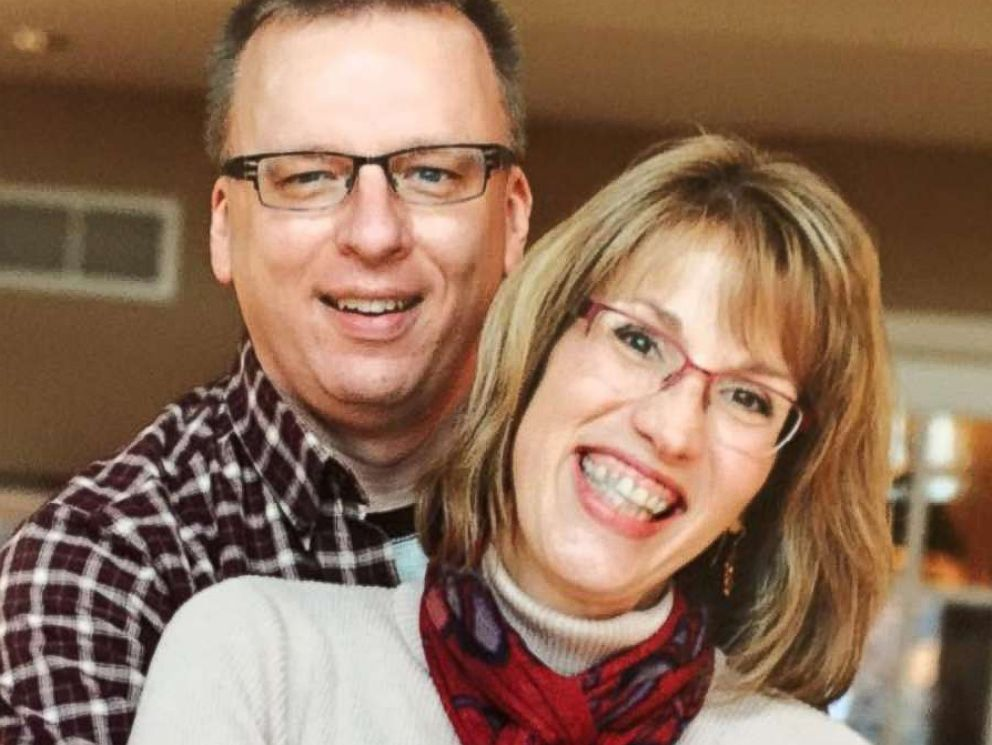 PHOTO: Dan West, an Ohio University Assistant Professor, with his wife of 24 years Vicki Seefeodt West.