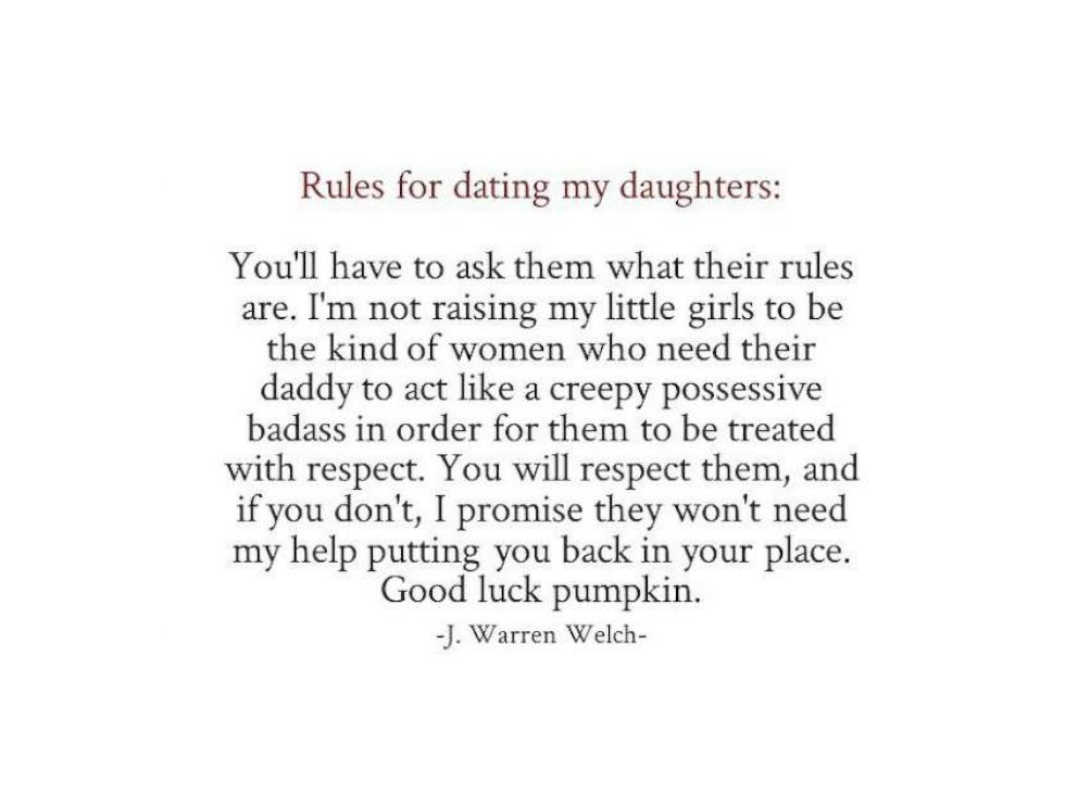 Rules when you start dating