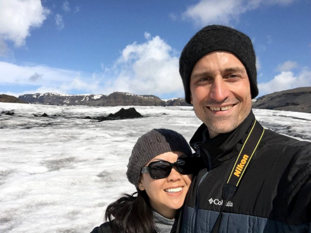 PHOTO: Dax Oliver and Kris Geiger enjoy Iceland.