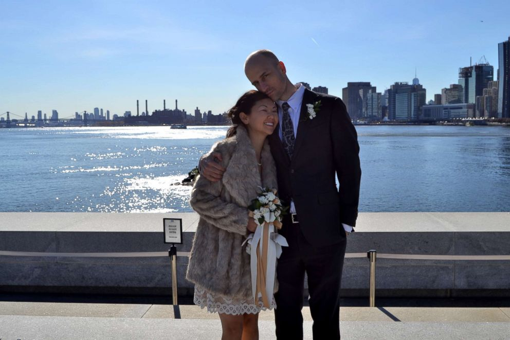PHOTO: Dax Oliver and Kris Geiger on their wedding day in New York City.