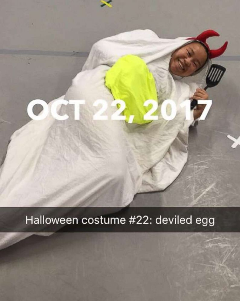 PHOTO: Molly Foote dressed as a Deviled Egg on Oct. 22, 2017.