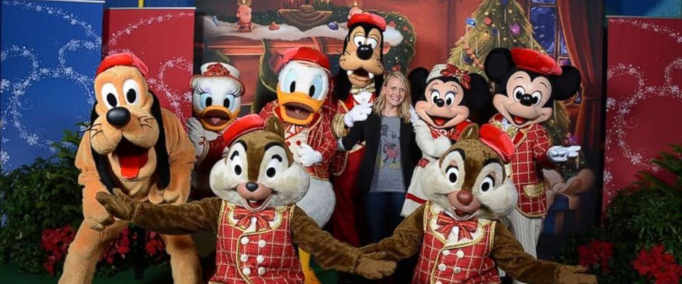 PHOTO: Ashley Papson with Disney characters.