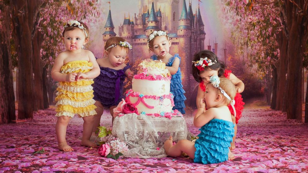 Baby Disney princesses reunite for seriously epic cake smash