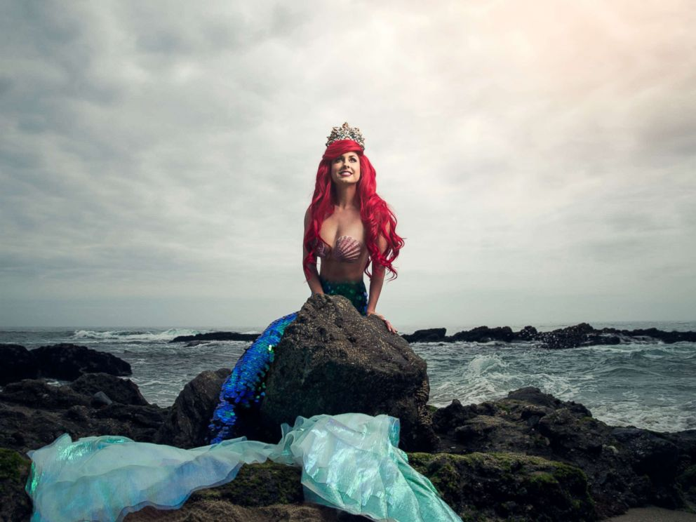 PHOTO: Traci Hines poses as Ariel from Disneys The Little Mermaid in a photo shoot conceptualized by designer Nephi Garcia and photographer Tony Ross.
