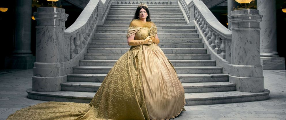 "PHOTO: Linda Wadley poses as the mother of Belle from Disneys ""Beauty and the Beast"" in a photo shoot conceptualized by designer Nephi Garcia and photographer Tony Ross."