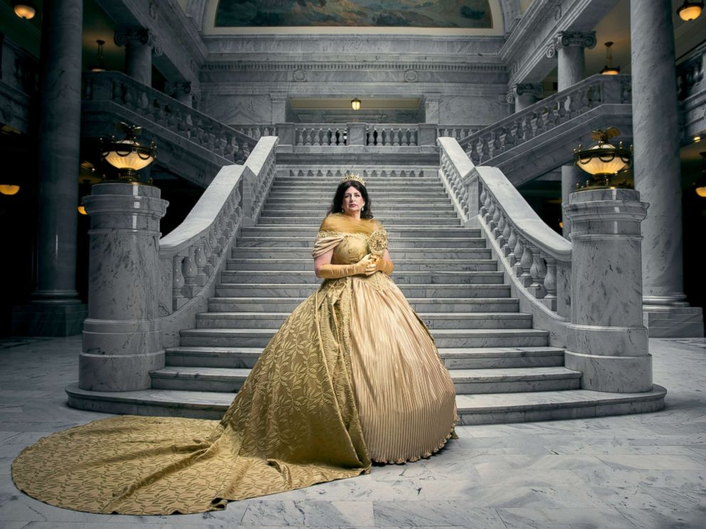 PHOTO: Linda Wadley poses as the mother of Belle from Disneys Beauty and the Beast in a photo shoot conceptualized by designer Nephi Garcia and photographer Tony Ross.