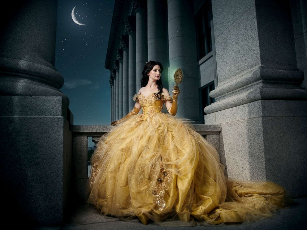 PHOTO: Bethanie Garcia poses as Belle from Disneys Beauty and the Beast in a photo shoot conceptualized by designer Nephi Garcia and photographer Tony Ross.
