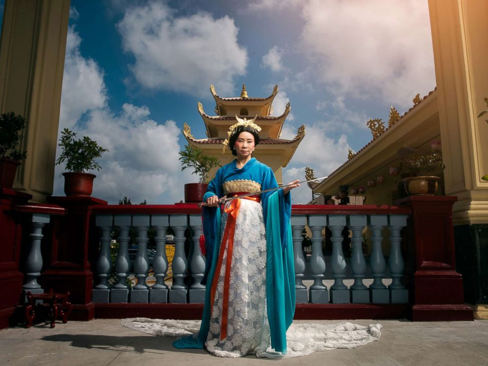 PHOTO: Mother Chi Huynh poses as Mulans mother in a photo shoot conceptualized by designer Nephi Garcia and photographer Tony Ross.