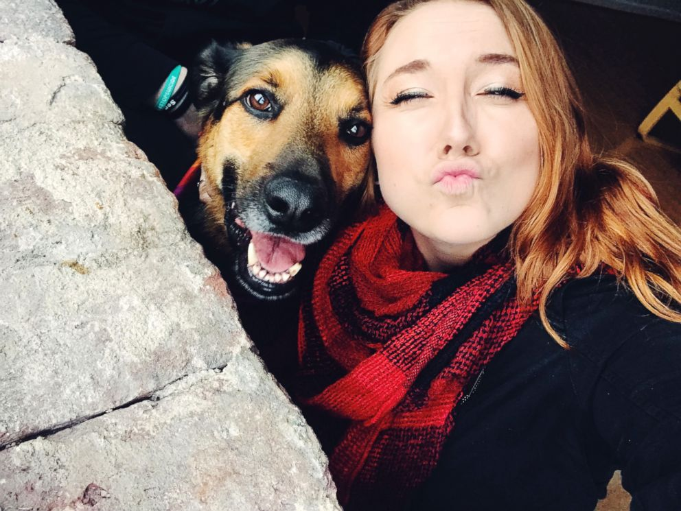 PHOTO: Meghan Specksgoor with her 4-year-old german sheperd mix named Chance.