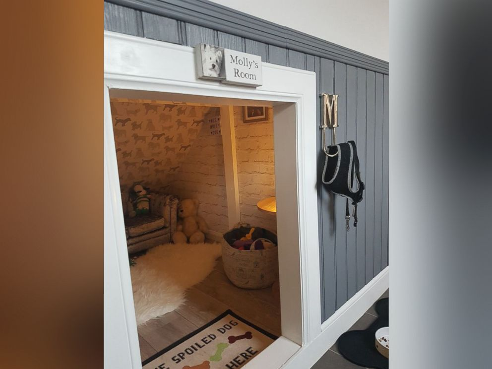 PHOTO: An after picture of Michael McGowans dog den that he created for his 3-year-old West Highland White Terrier named Molly.