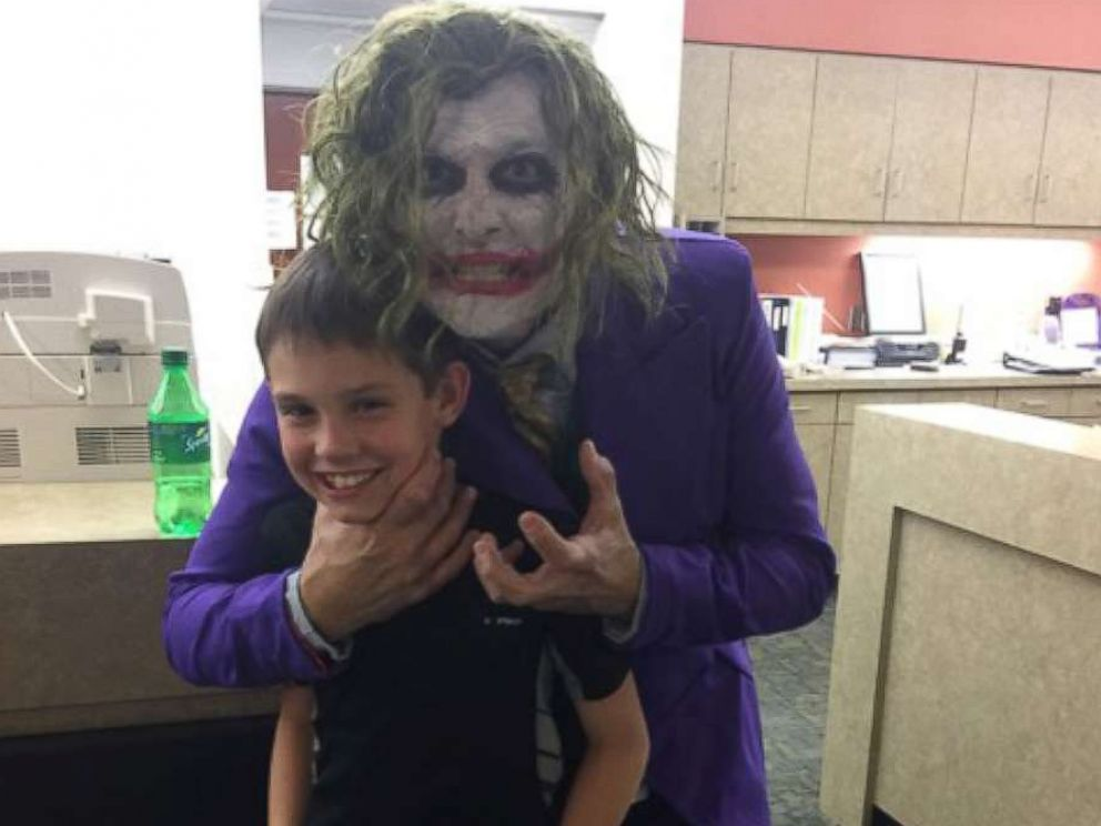 PHOTO: Brenden Selph, 10, with Dr. Paul Locus, dressed as The Joker, on Oct. 31, 2017.