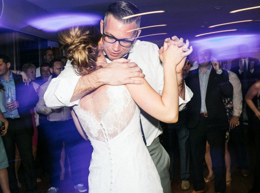 PHOTO: Christian Yakstis and Erika ten Napel were married on May 11, in Montauk, N.Y.