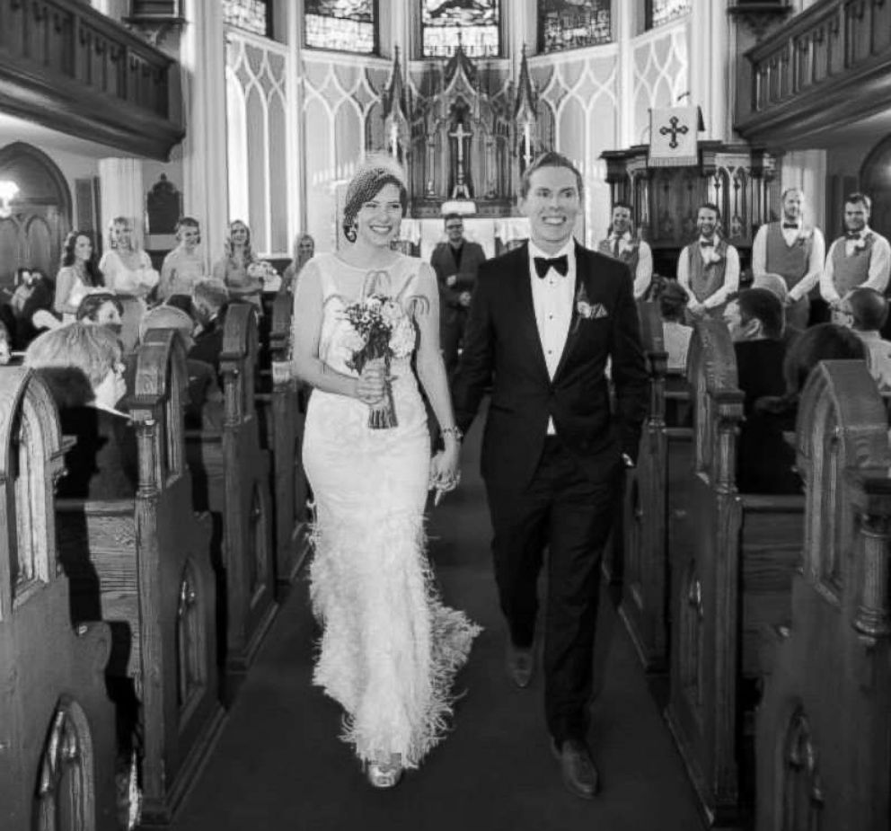 PHOTO: Steve and Rebecca Dziedzic on their wedding day in 2014.