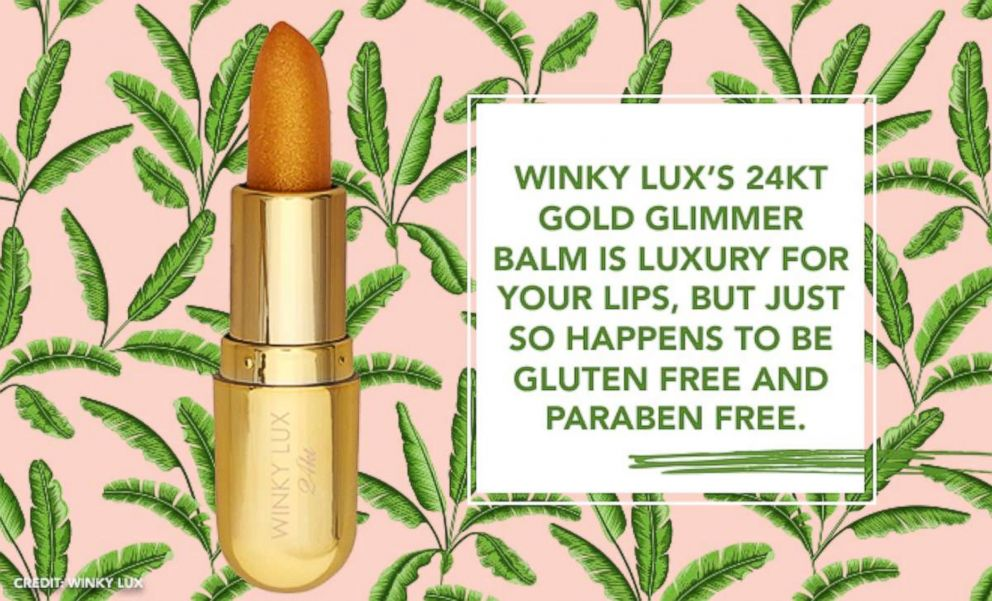 PHOTO: Winky Luxs 24kt Gold Glimmer Balm is luxury for your lips, but just so happens to be gluten free and paraben free.