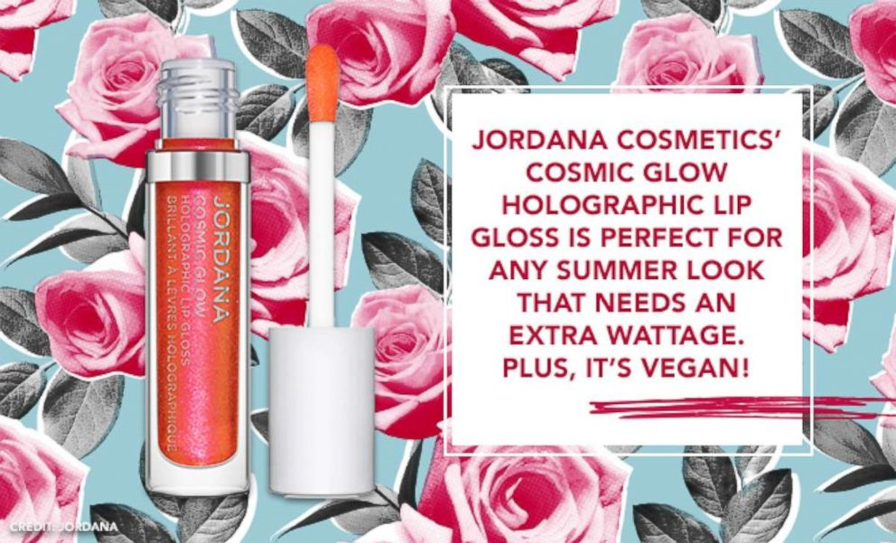 PHOTO: Jordana Cosmetics Cosmic Glow Holographic Lip Gloss is perfect for any summer look that needs an extra wattage. Plus, its vegan!