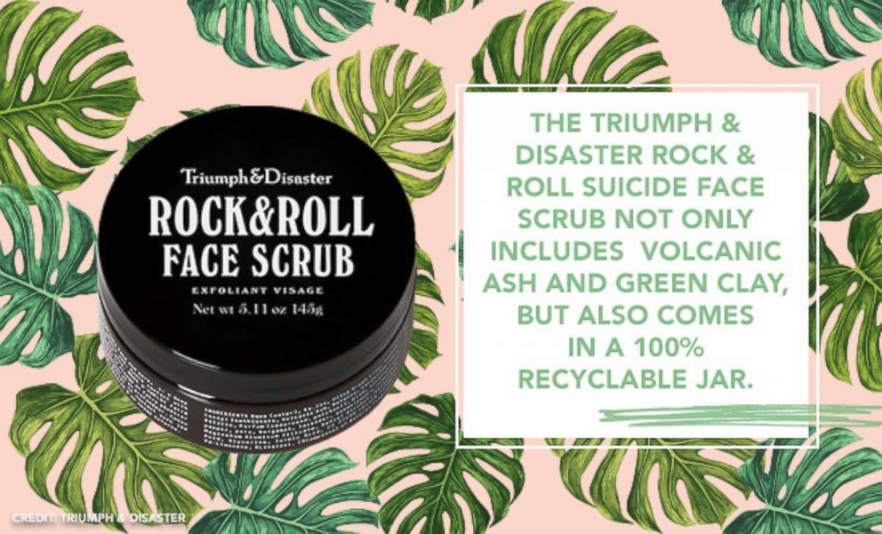PHOTO: The Triumph & Disaster Rock & Roll Suicide Face Scrub not only includes Volcanic Ash and Green Clay, but also comes in a 100% recyclable jar.