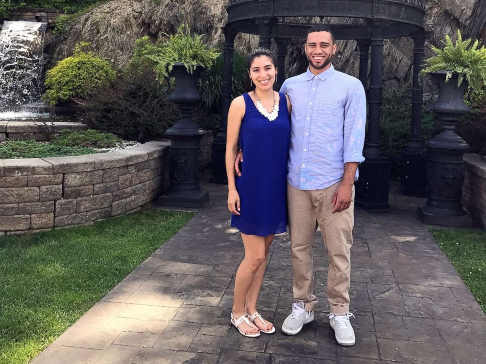 PHOTO: David Ruiz and Samantha Mills of New Jersey, seen in an undated handout photo, are getting married on April 22, 2018, which is Earth Day.