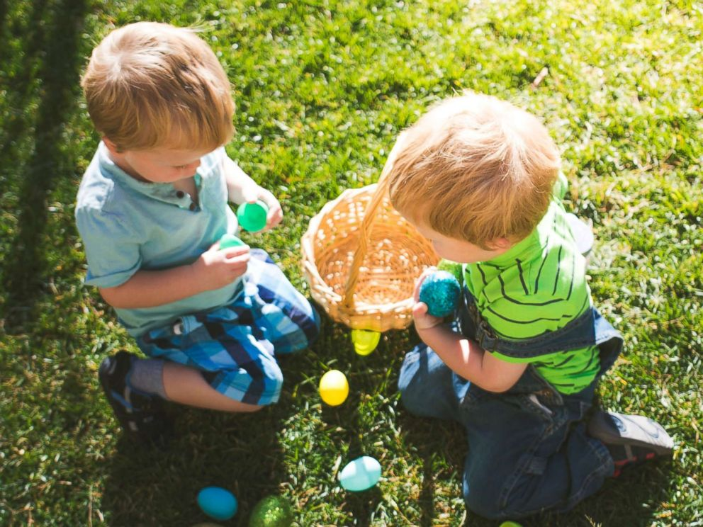 PHOTO: An undated stock photo of children with Easter eggs.