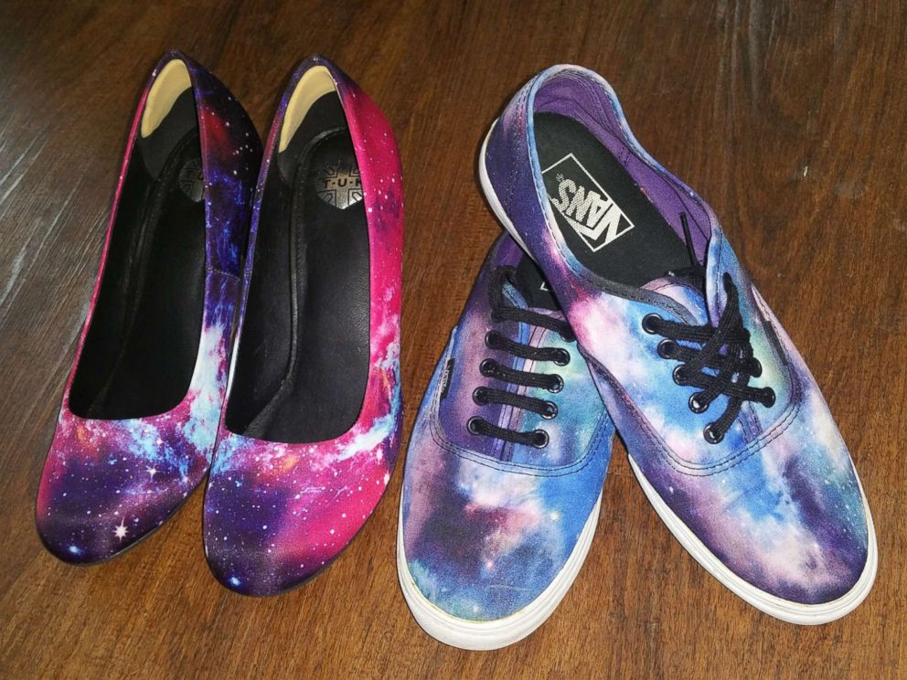 PHOTO: Samantha Adams will wear galaxy-inspired shoes on her wedding day.