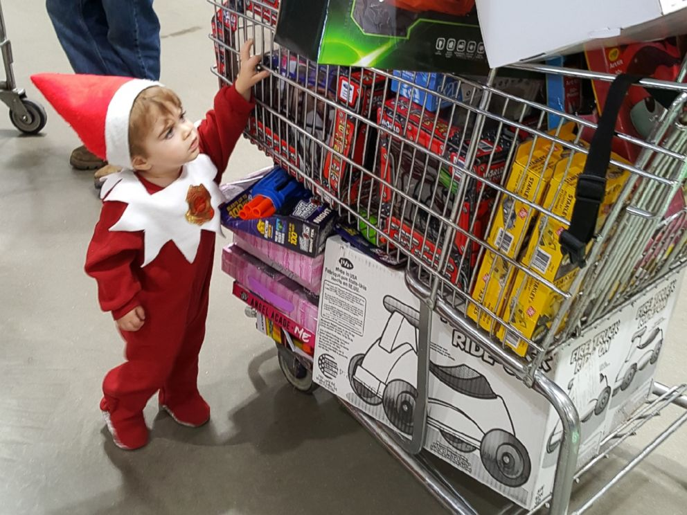 PHOTO: Elf on the Shelf Forest Schott, 18 months, is helping his mother, Megan, raise money to buy toys for kids in needs for the holiday season.