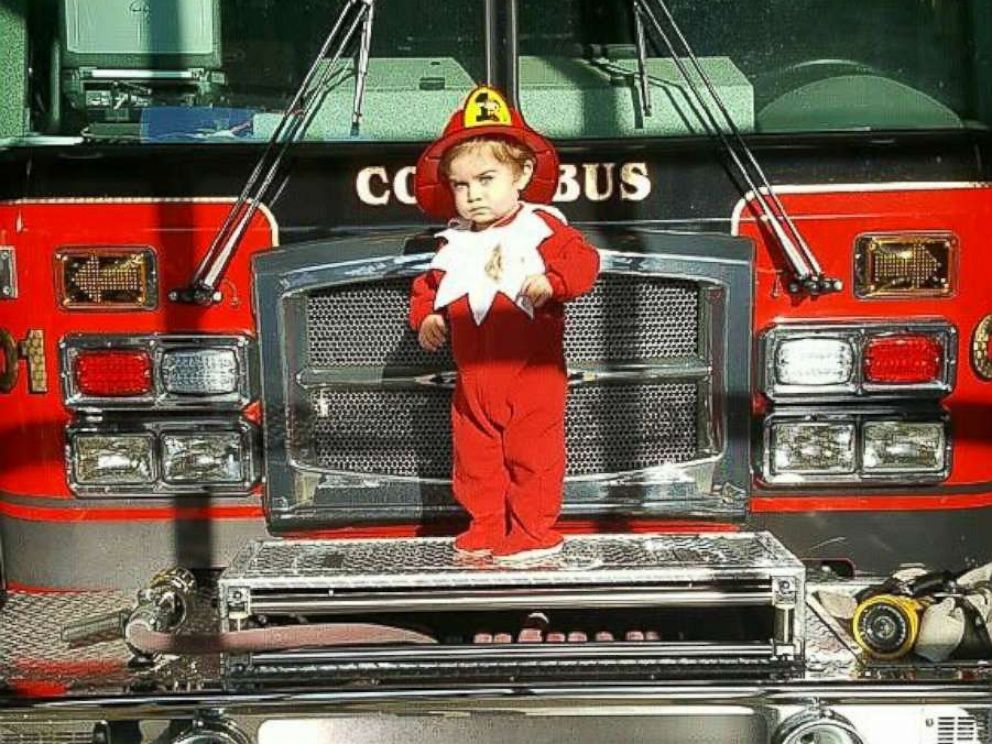PHOTO: Elf on the Shelf Forest Schott, 18 months, is using his photos to raise money to buy toys for kids in needs for the holiday season.