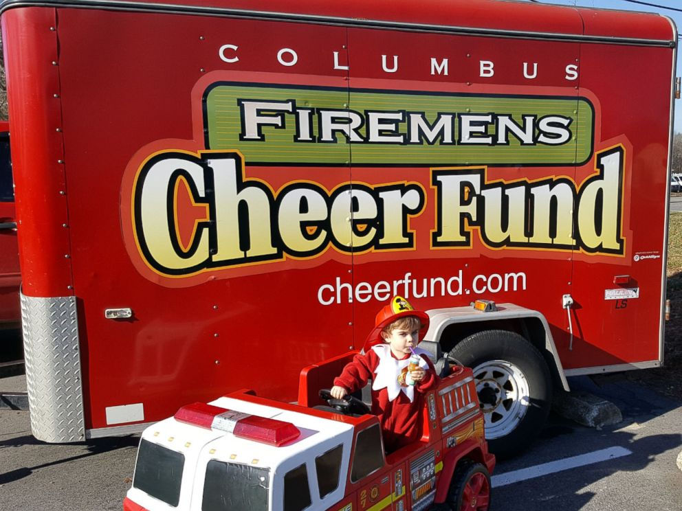 PHOTO: Forest and Megan Schotts 2017 Elf on the Shelf fundraiser is donating its toys to the Columbus Firemens Cheer Fund, which helps over 1,200 kids each holiday.