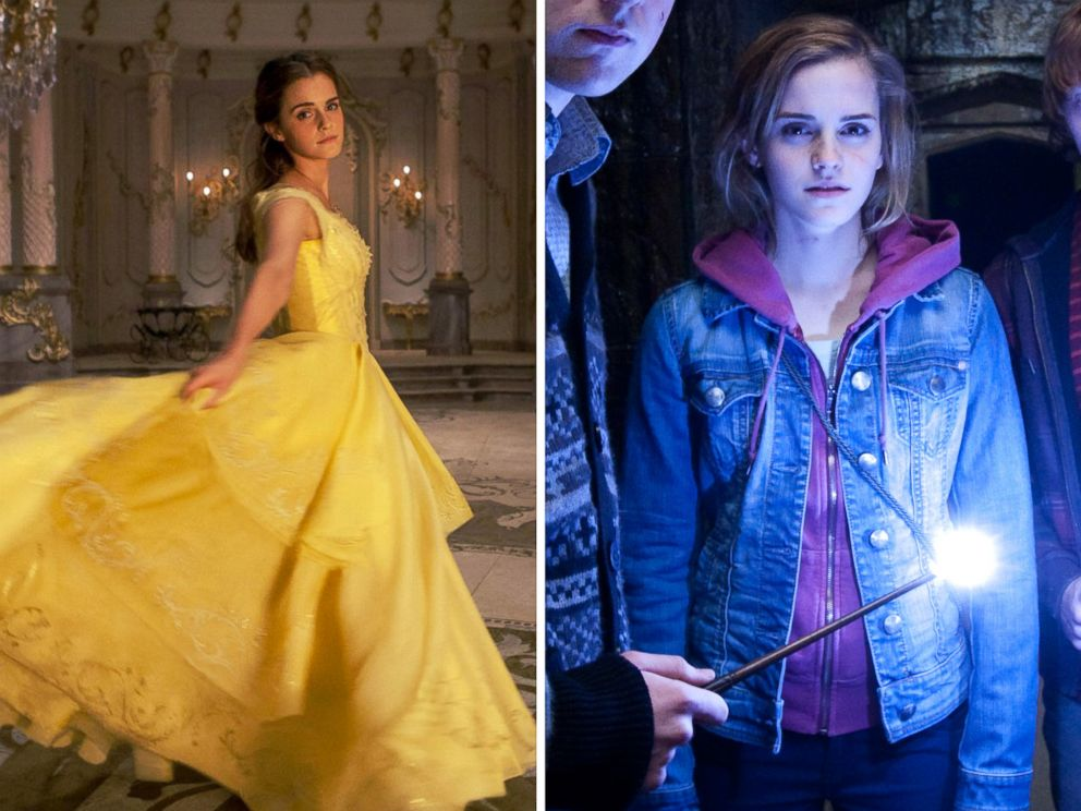 PHOTO: Actress Emma Watson stars as Belle in Beauty and the Beast and as Hermione Granger in Harry Potter and the Deathly Hallows - Part 2.