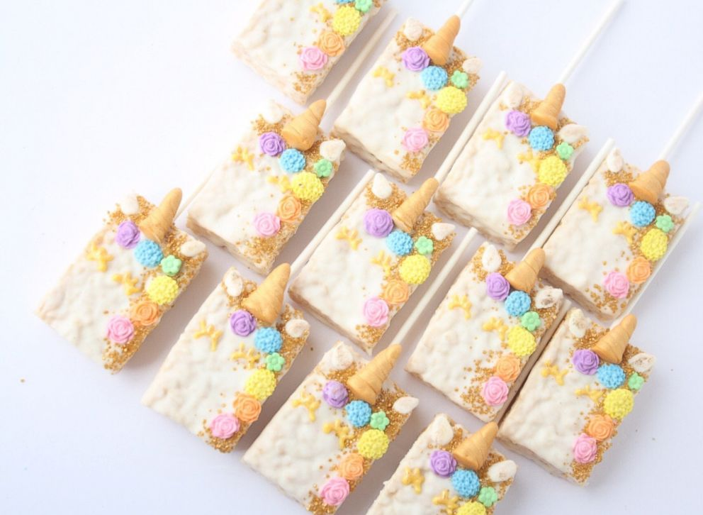 PHOTO: These unicorn rice cakes are listed on Etsy.com.