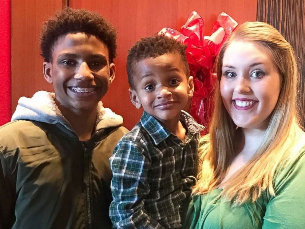 PHOTO: Teacher Chelsea Haley adopted Jerome Robinson, left, and his brother, Jace Robinson, after having Jerome as a student.