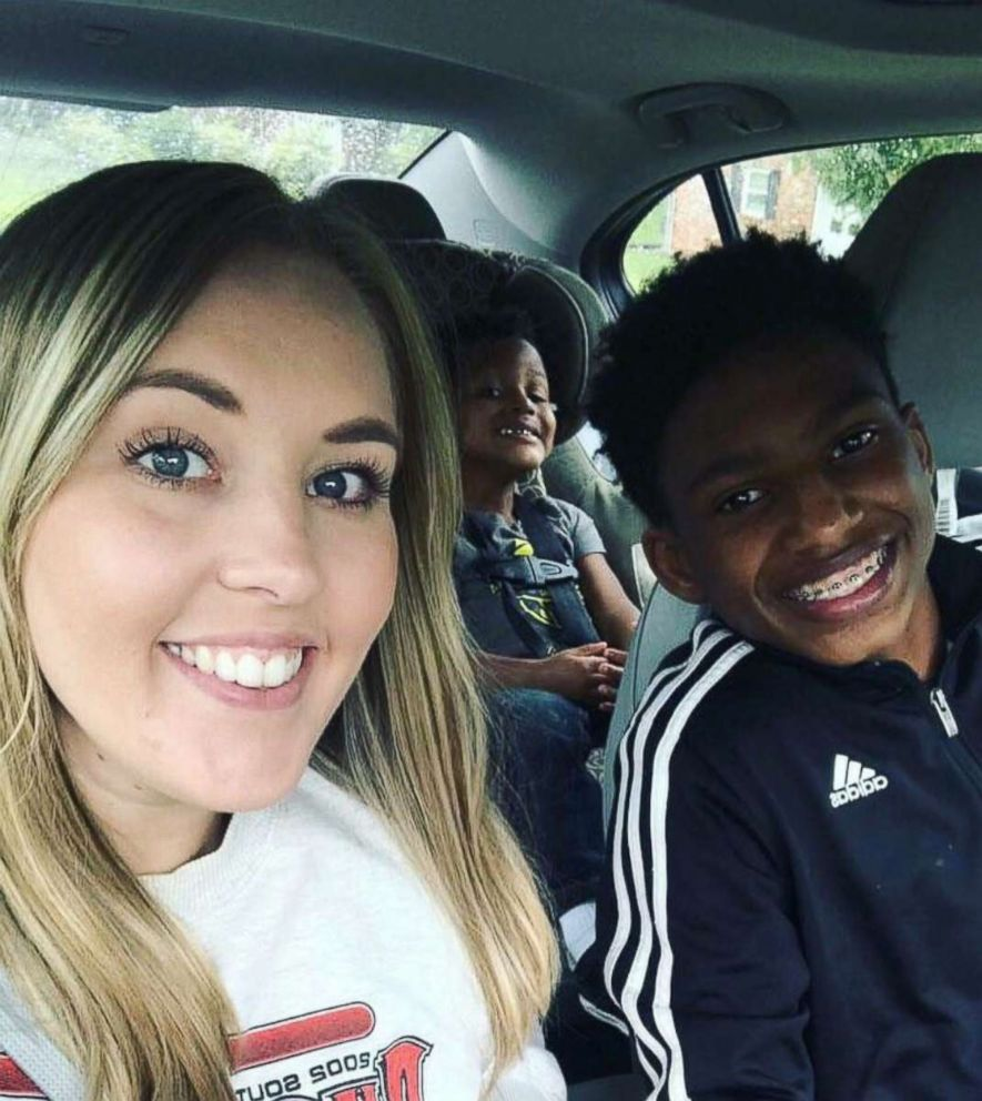 PHOTO: Chelsea Haley poses for a selfie with her sons, Jerome Robinson and Jace Robinson.