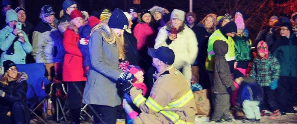 Firefighter Gives Diamonds To Girlfriend And Her Daughter In