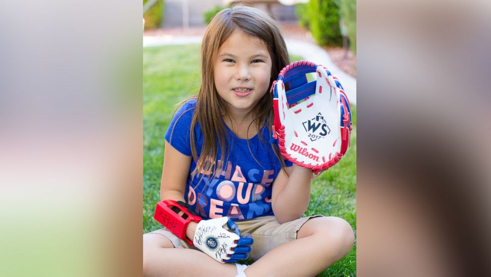 Hailey Dawon, a 7-year-old girl from Nevada with a 3-D printed prosthetic hand whose dream of throwing the first pitch at every major league ballpark, will throw the first pitch at Game 4 of the World Series tonight, on Oct. 28.