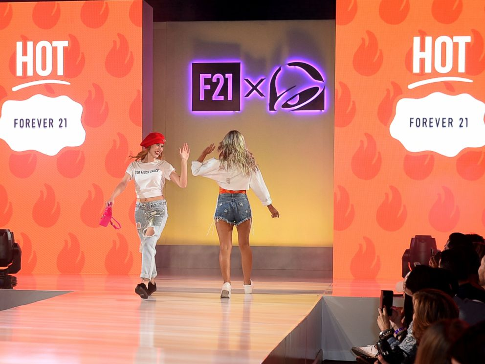 PHOTO: Models show two styles available in the new Forever 21, Taco Bell collaboration.