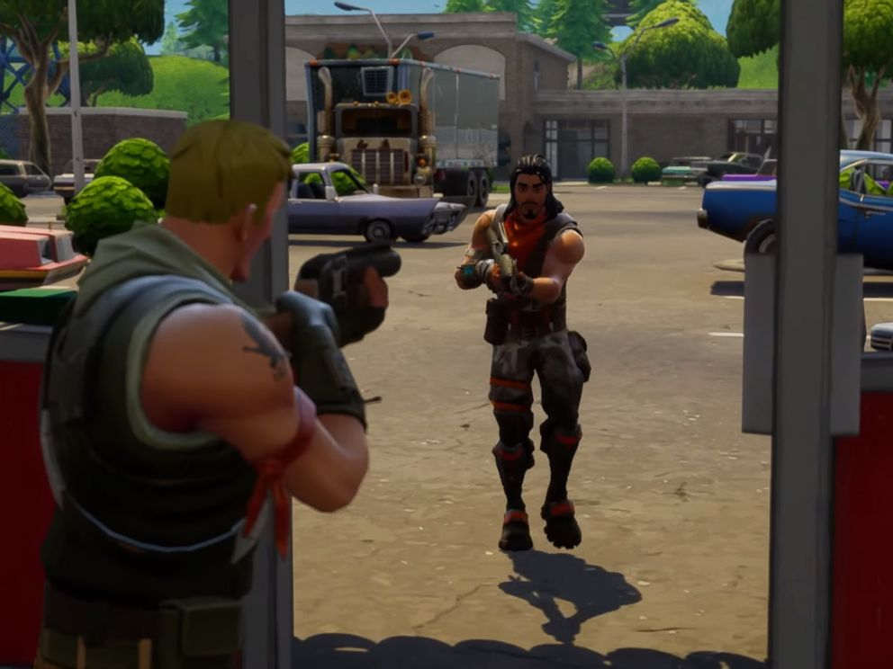 PHOTO: An image made from promotional video shows the video game Fortnite by Epic Games.