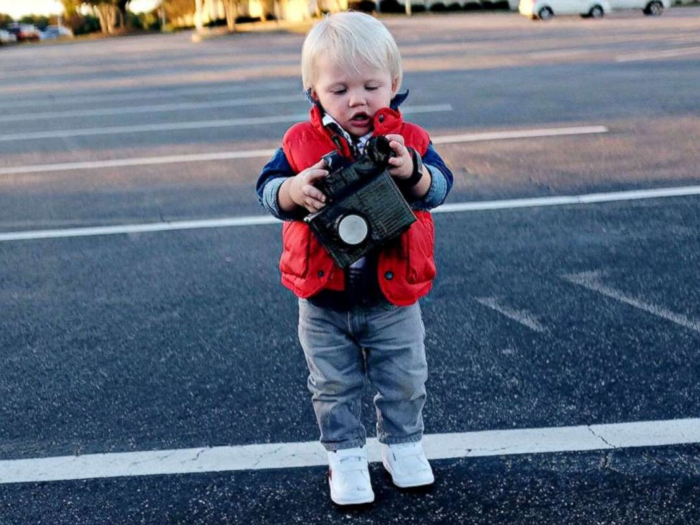 PHOTO: Fox Mancke, now 3, as a Back to the Future character for Halloween in 2015.