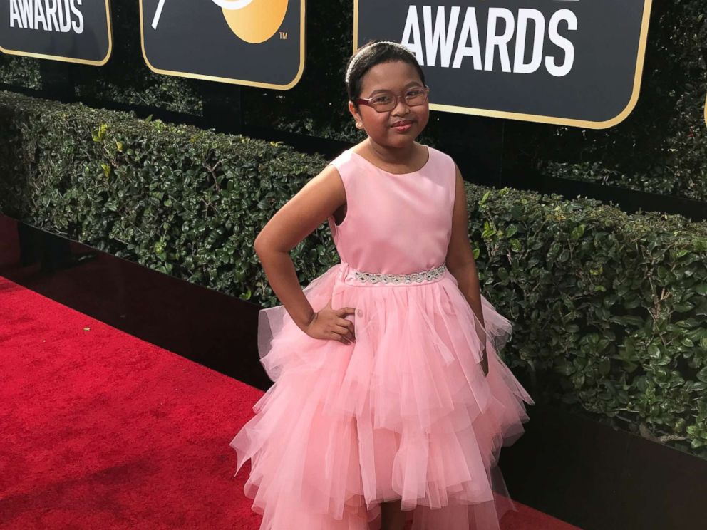 PHOTO: Francine Gascon, 10, photographed some of Hollywoods biggest stars on the red carpet at the Golden Globes.