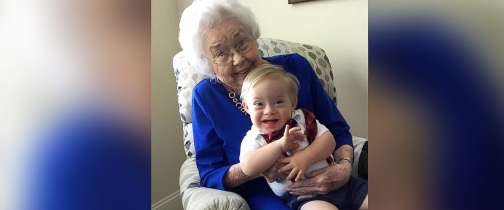 PHOTO: Ann Turner Cook, 91, poses in a recent photo with the 2018 gerber spokesbaby, Lucas Warren.