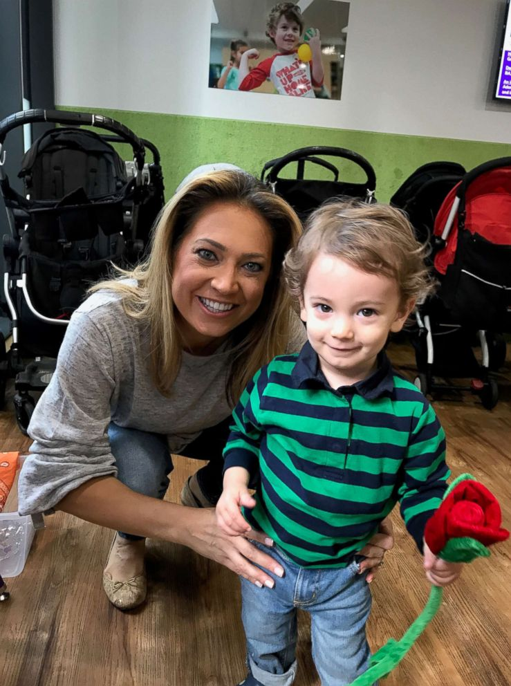PHOTO: ABC News chief meteorologist Ginger Zee poses with her son, Adrian.