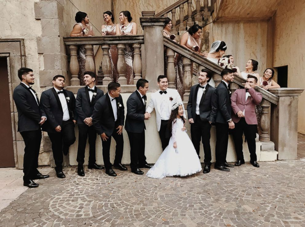 PHOTO: The wedding party for the Dec. 2, 2017 wedding of Gladys and Miguel Salinas.
