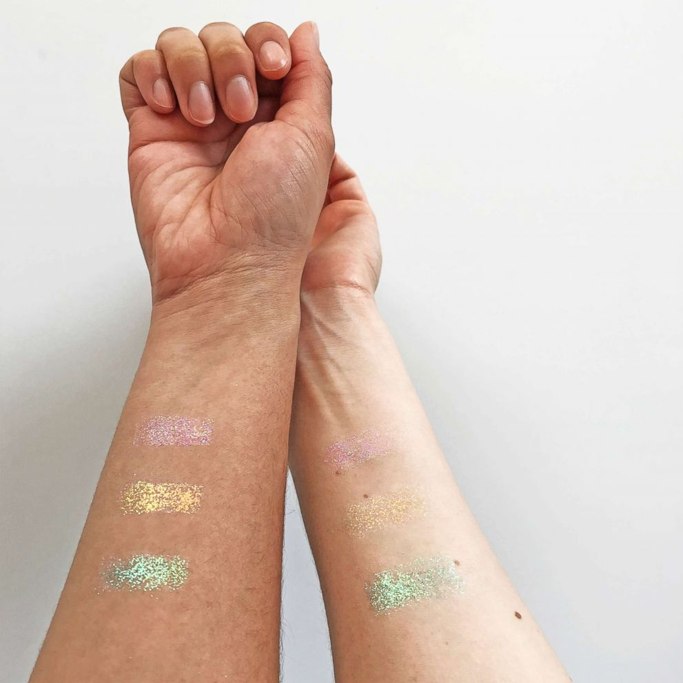 Stay protected and glisten with this glitter sunscreen.